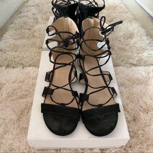 TOPSHOP | Black Gladiator Sandals